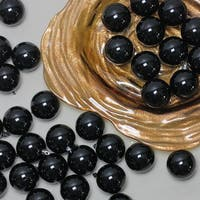 "180ct Shiny Jet Black Shatterproof Christmas Ball Ornaments 2.5"" (60mm)"