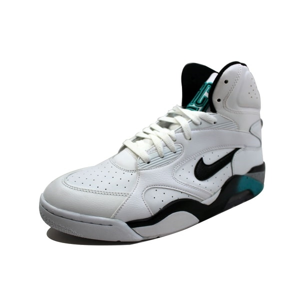 057ce7ca9a Shop Nike Men's Air Force 180 Mid White/Black-Wolf Grey-Blue Emerald ...
