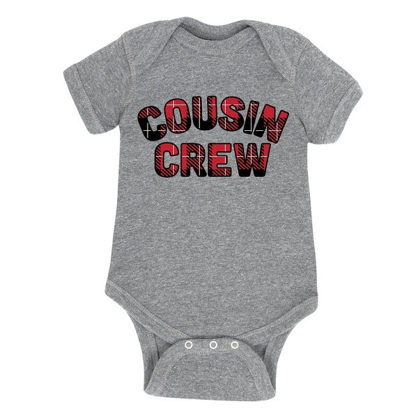 Cousin Crew Red Plaid Fill - Infant One Piece