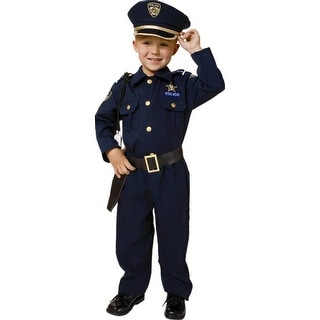 Policeman Child Costume  sc 1 st  Overstock.com & Shop Award Winning Deluxe Police Costume Set (Size 2-18) - Free ...