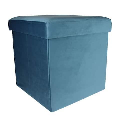 Modern Foldable Fabric Cube Storage Stool Ottoman