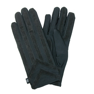 Isotoner Men's Knit Lined Spandex Gloves - Brown - medium / large