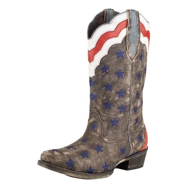 Roper Western Boot Womens Americana Stars Stripes