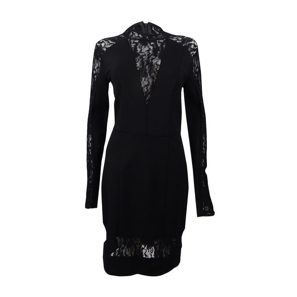 Rachel Rachel Roy Women's Lace Contrast Body-Con Dress - Black