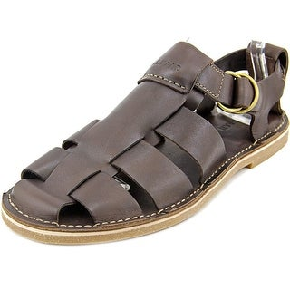 Cole Haan Ginsberg Fisherman Men Round Toe Leather Brown Fisherman Sandal