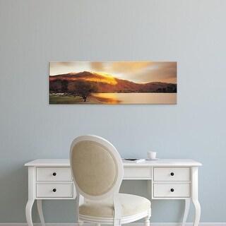 Easy Art Prints Panoramic Images's 'Mountain Range, Ullswater, Lake District, Great Britain, United Kingdom' Canvas Art
