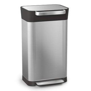 Joseph Joseph 30030 Intelligent Waste Titan Trash Can Compactor, 8 gallon - 30 liter, Stainless Steel