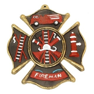 Fireman Cast Iron Wall Plaque