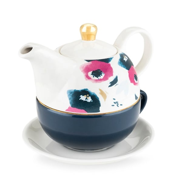 Addison Floral Tea for One Set by Pinky Up. Opens flyout.