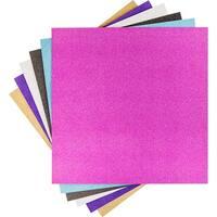 """Cricut 12""""X12"""" Vinyl Sampler 6/Pkg-Glitter"""
