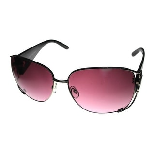 Esprit Womens Sunglass 19282 517 Silver Metal Purple Plastic Rectangle - Medium