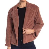 14th & Union Brown Faux Shearling Women's Size Medium M Jacket