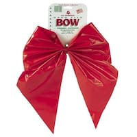 Holiday Trim 11X15 2Lp Red Poly Bow 7209DOZ Unit: EACH Contains 12 per case