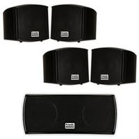 Acoustic Audio AA321B and AA32CB Mountable Indoor Speakers Home 5 Speaker Set