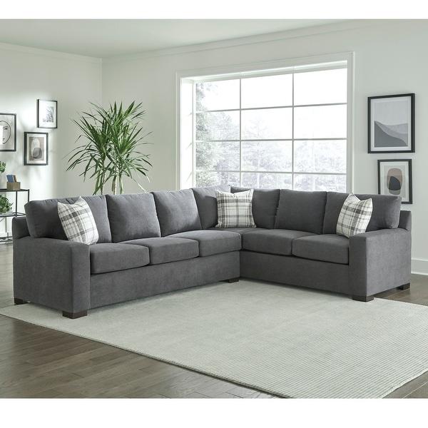 Gerard Grey Sectional Sofa Bed with Queen Gel Memory Foam Mattress. Opens flyout.