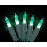 Celebrations 7001088S-04AC Mini Green LED Light String, 25.5'