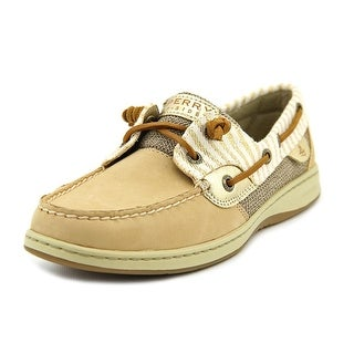 Sperry Top Sider Bluefish Women Moc Toe Leather Tan Boat Shoe