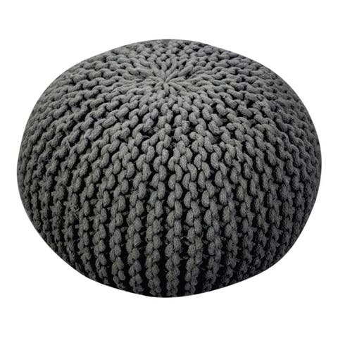 Moro Handcrafted Cotton Pouf by Christopher Knight Home
