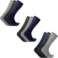 9-Pairs: Men's Diabetic Crew Socks