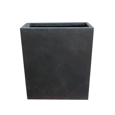 Kante Lightweight Concrete Modern Long & High Rectangle Planter, 26.8 Inch Tall, Charcoal