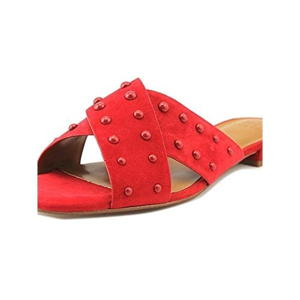 Halston Womens Nora Slide Sandals Dress Square Toe