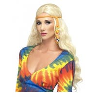 1960s Hippie Beaded Headband Adult Costume Accessory