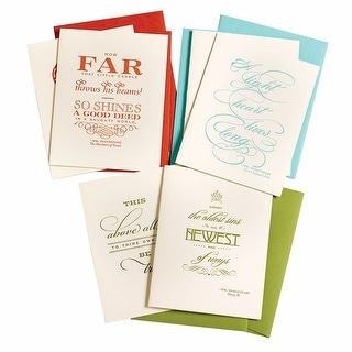 Shakespeare Quote Any-Occasion Letterpress Cards - Set Of 6