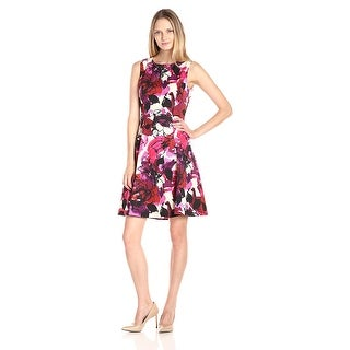 Kasper Floral Printed Zeo Sleeveless Scuba Dress - 14