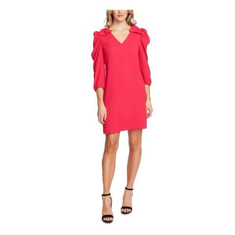 CECE Womens Pink 3/4 Sleeve Mini Shift Wear To Work Dress Size XL
