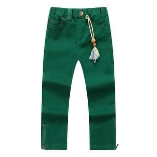 Richie House Girls' Crimson Denim Pants