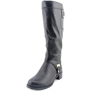 Bella Vita Anya II Women W Round Toe Leather Black Knee High Boot