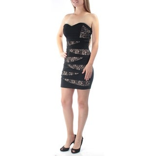 EMERALD SUNDAE $129 Womens New 6254 Black Lace Body Con Dress M Juniors B+B