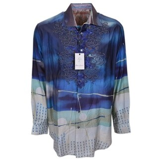 Robert Graham Limited Edition Numbered BORDERLANDS Sports Dress Shirt 1XLT