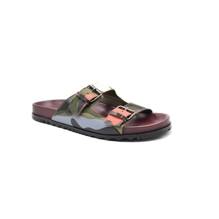 Mens Valentino Green Camouflage Buckle Sandals U.S. 11