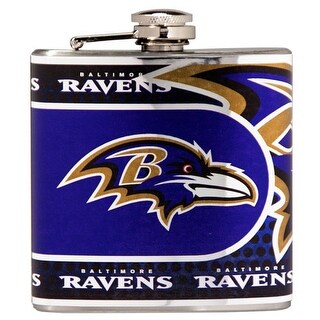 Great American Products Baltimore Ravens Flask Stainless Steel 6 oz. Flask