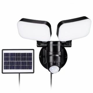 LED Solar Motion Sensor Security Light, Adjustable Dual-Head, 2 Modes