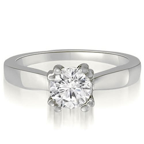 1.00 cttw. 14K White Gold Dual Prong Round Solitaire Diamond Engagement Ring