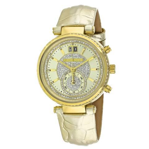 Michael Kors Women's Sawyer Gold Dial Watch - MK2444 - One Size