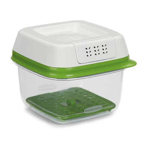 Rubbermaid 1920480 FreshWorks Plastic 2.5 Cup Food Storage Container - - Clear