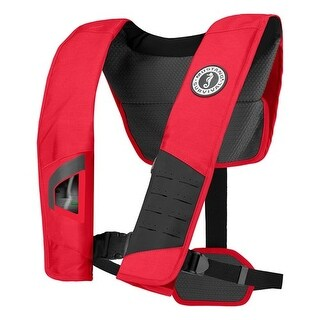 """Mustang DLX 38 Deluxe Automatic Inflatable PFD - Red / Black Automatic Inflatable PFD"""
