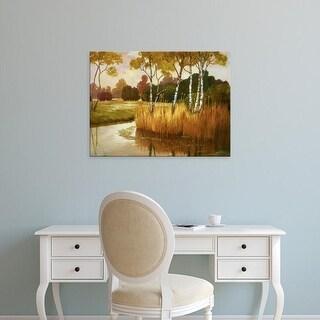 Easy Art Prints Graham Reynolds's 'Reeds, Birches & Water II' Premium Canvas Art