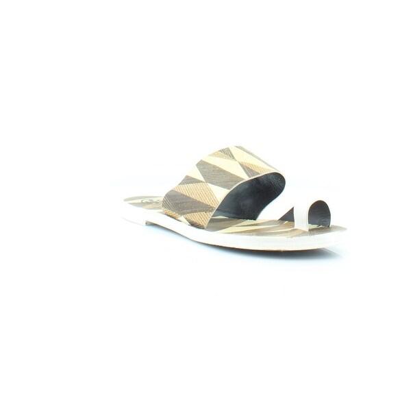 Tory Burch Kemper Flat Women's Sandals White/Mosaico - 7.5