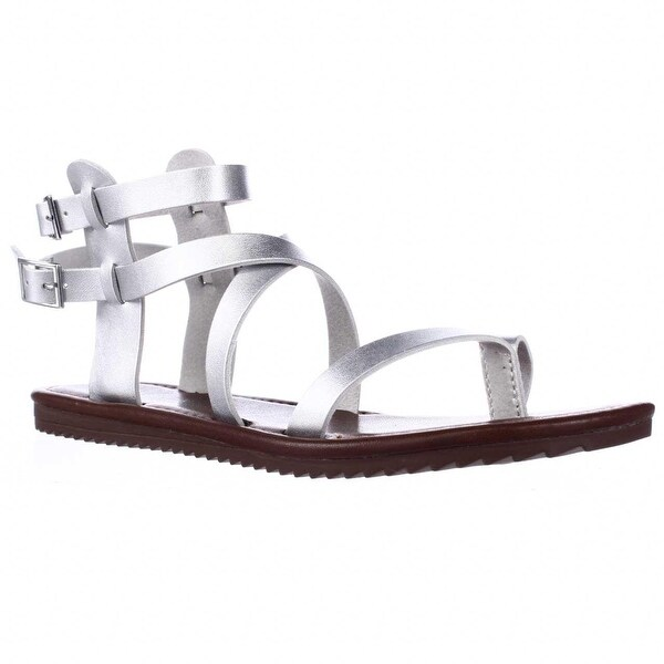 Seven Dials Sync Ankle Strap Sandals, Silver Metallic