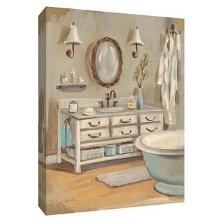 "PTM Images 9-154360  PTM Canvas Collection 10"" x 8"" - ""Serene Bath III"" Giclee Bathroom Art Print on Canvas"