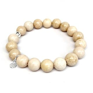 "Ivory Jade Eternal 7"" Bracelet