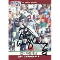 Ron Wolfley autographed Football Card (Phoenix Cardinals) 1990 Pro