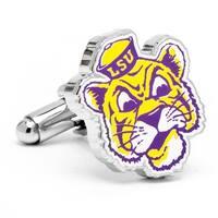 Louisiana State University Tigers Vintage Logo Cufflinks LSU - Silver