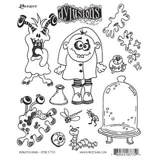"Dyan Reaveley's Dylusions Cling Stamp Collections 8.5""X7""-Monster Mash"