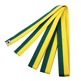 Solid Sporty Rank Judo Taekwondo Belt Martial Arts Karate Band Yellow Green