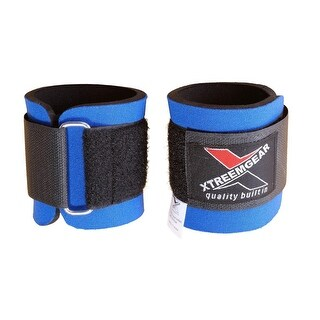 Weight Lifting Wrist WrapsTraining Straps Fastener Locked with Hook Blue W1-B